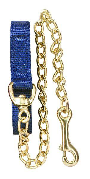 Perri's Flat Nylon Lead With Chain
