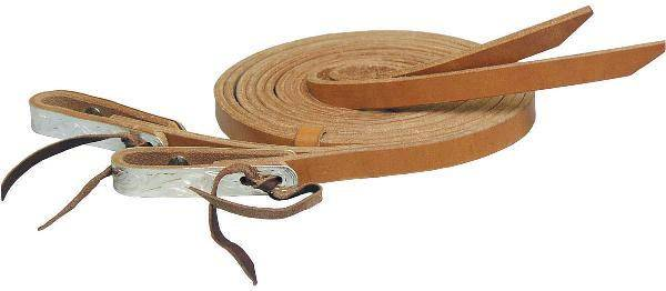 Tex Tan Split Harness Reins with Silver Water Ties
