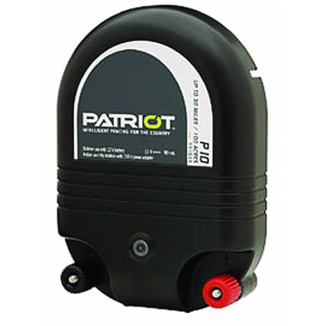 Patriot P10 Dual Purpose Fence Energizer - 12 V DC/110 V AC