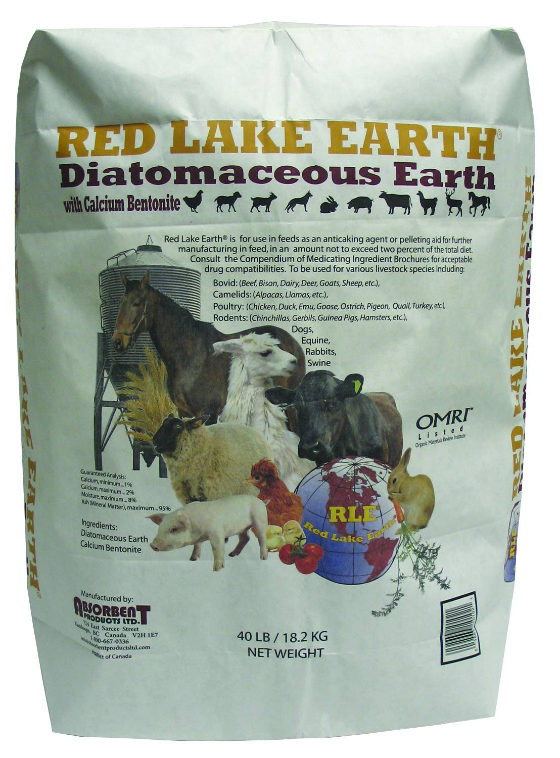 Red Lake Earth Diatomaceous Earth - Fine