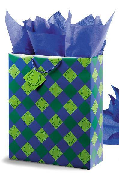 Lucky You! Super Jumbo Gift bag - Blue/Green