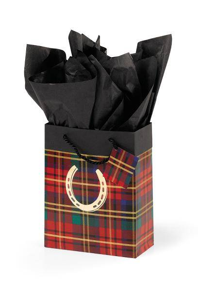 Festive Plaid Cub Gift Bag