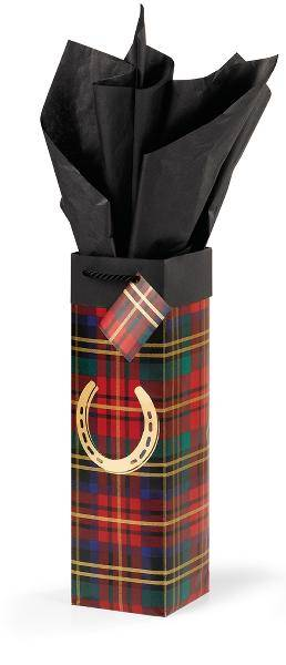 Festive Plaid Wine Gift Bag