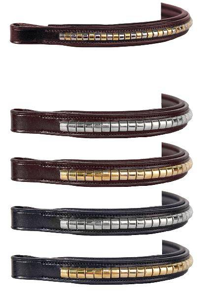 Nunn Finer Alternating Brass & Zinc Miniature Clincher Browband