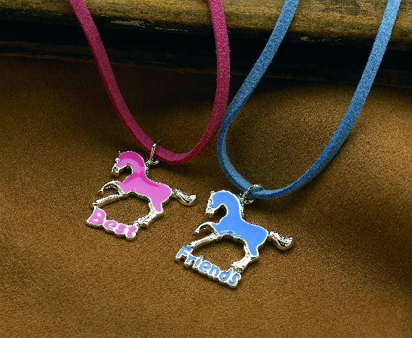 Best Friends Horses Double Necklaces Set