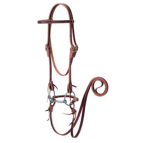 Weaver Browband Bridle with Double Cheek Buckles/Snaffle Bit
