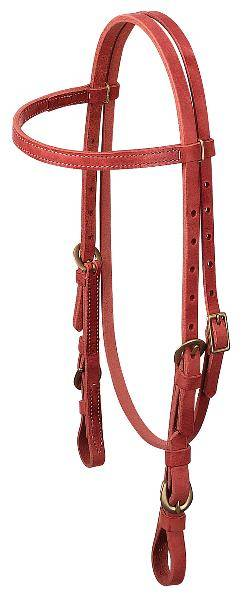 Weaver Quick Change Browband Headstall with Buckle Bit Ends