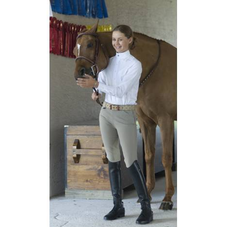 Ovation Girls Euroweave Side Zip Breech