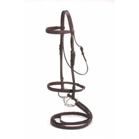 Silver Fox Padded Snaffle Bridle