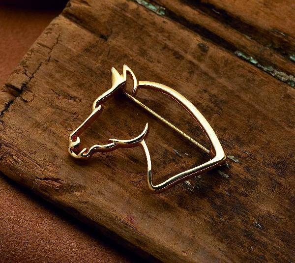 Horse Head Stock Pin/Brooch