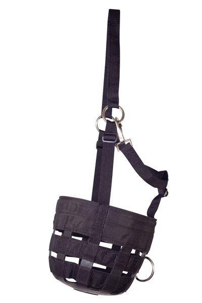 Perri's Nylon Anti-Grazing Muzzle With Headstall
