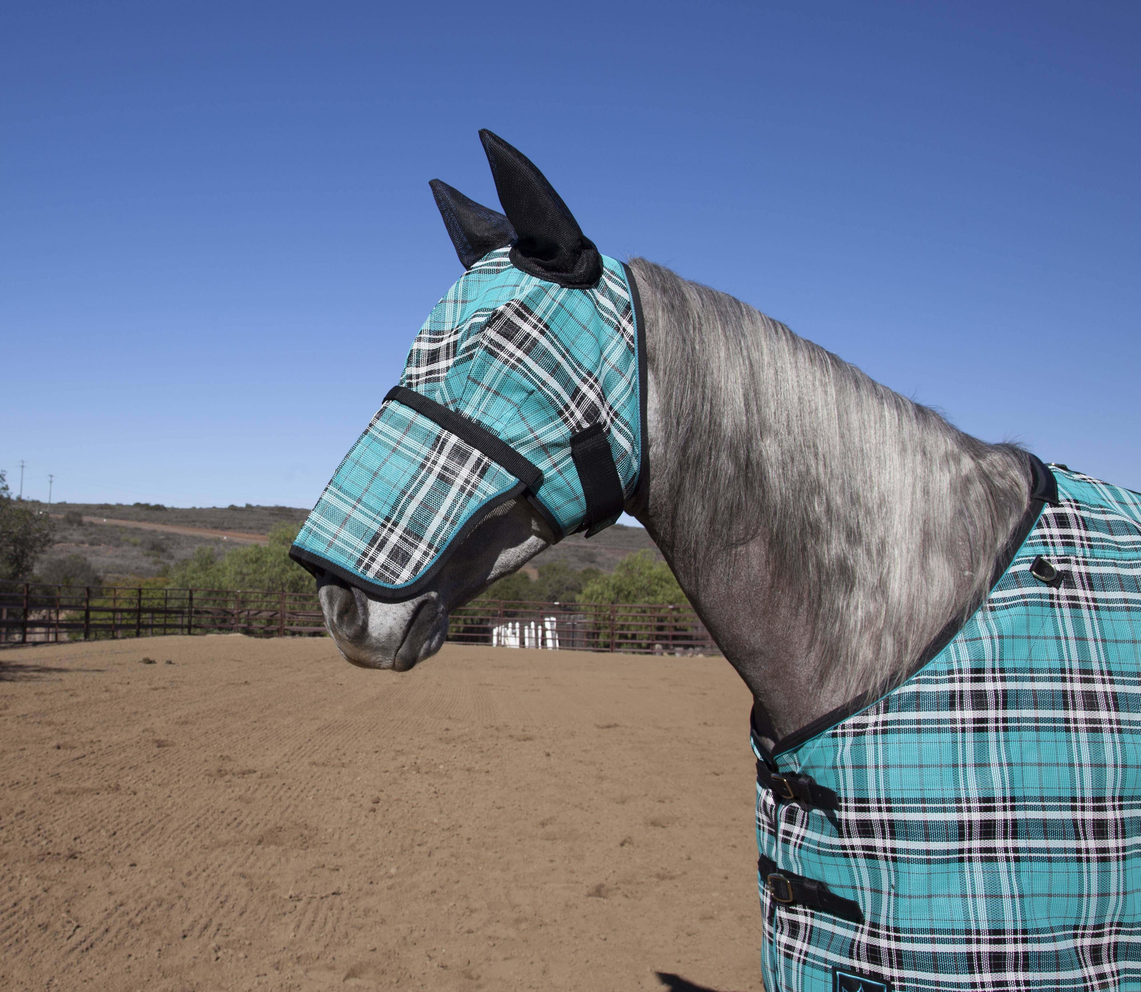 Kensington Signature Fly Mask with Nose Piece & Ears - Draft