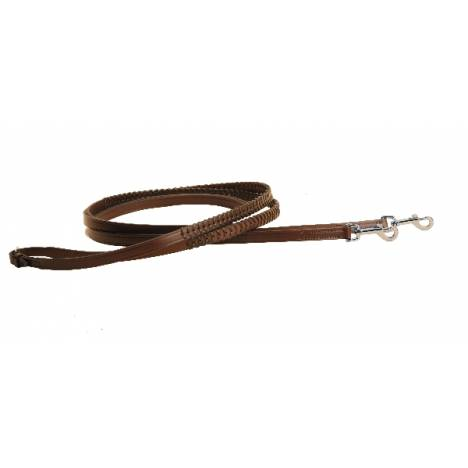 TORY LEATHER Laced Breast Plate Draw Reins