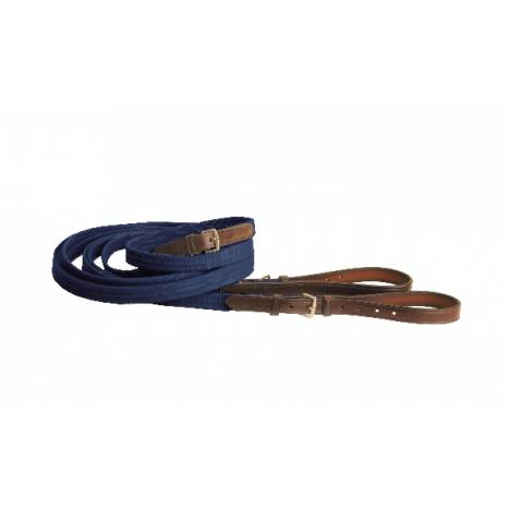 TORY LEATHER 3/4'' Cotton Web & Leather Draw Reins