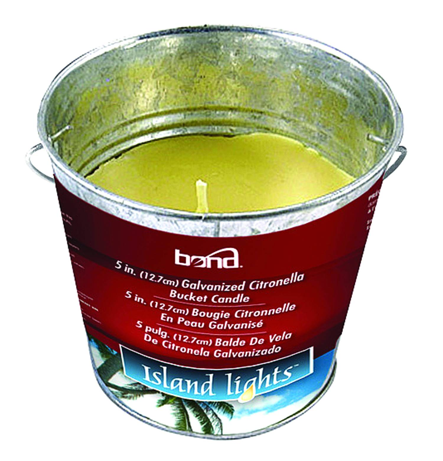 Galvanized Citronella Bucket Candle