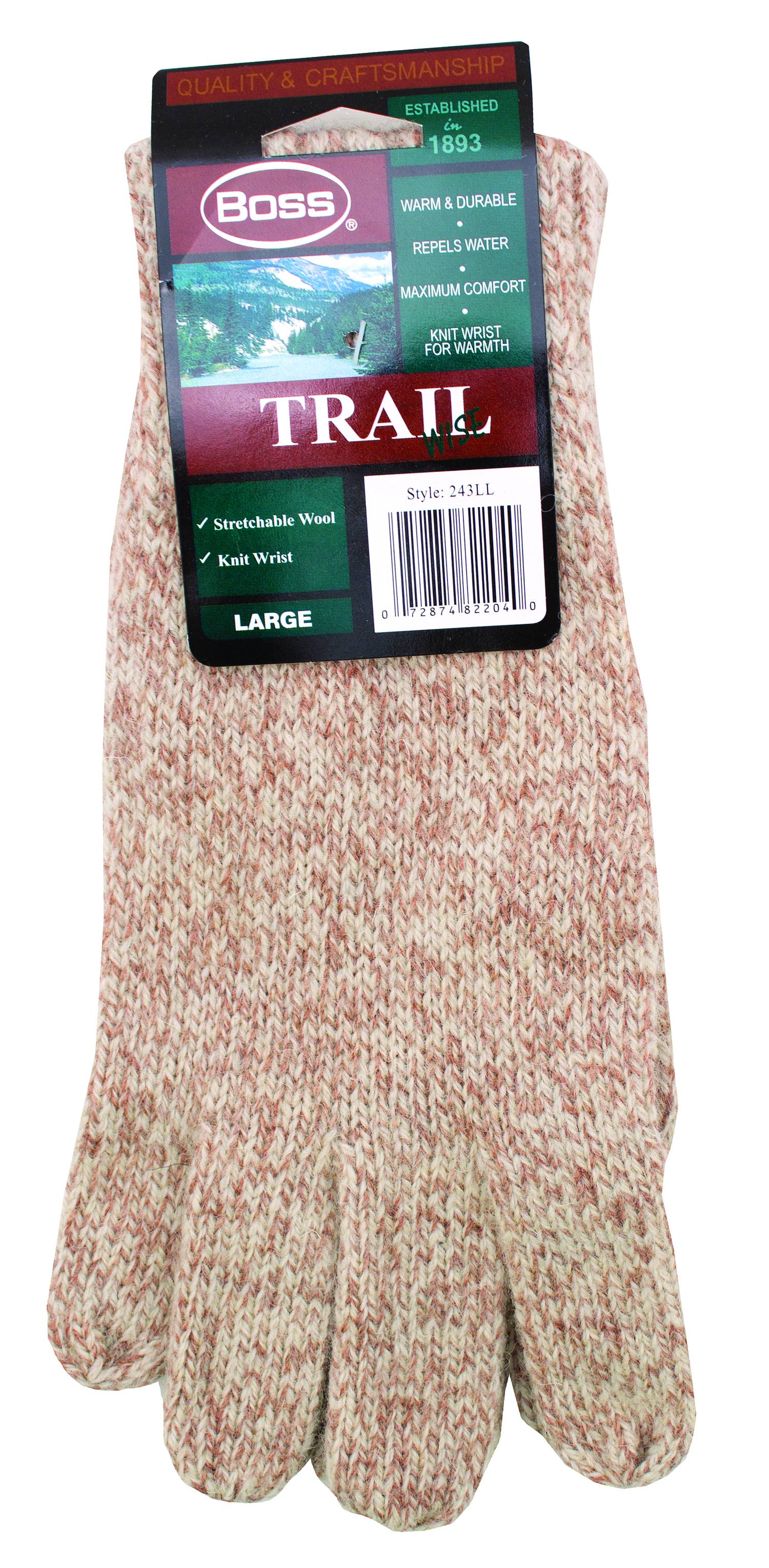 Boss Trail Tweed Ragg Wool Glove