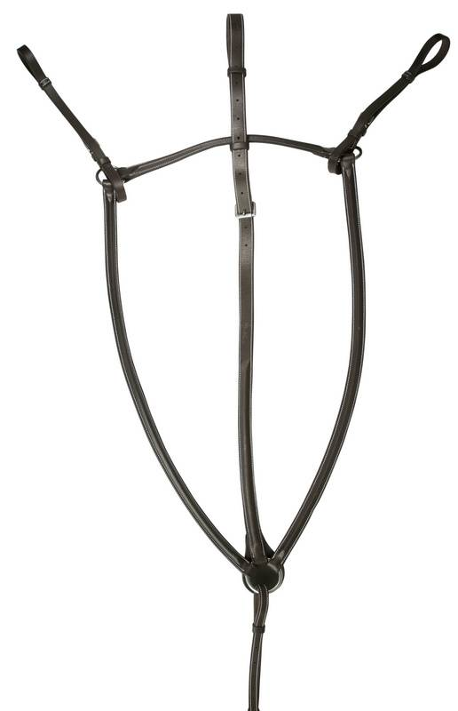 DaVinci Plain Raised Breastplate Martingale with Standing Attachment