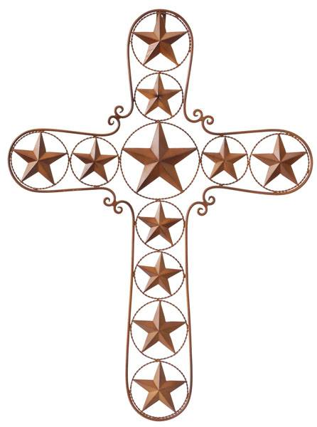 Gift Corral Cross with Stars