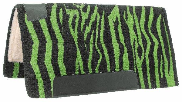 Tough-1 Wool Saddle Pad - Zebra Prints