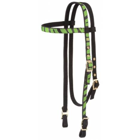 Tough-1 Zebra Print Browband Headstall