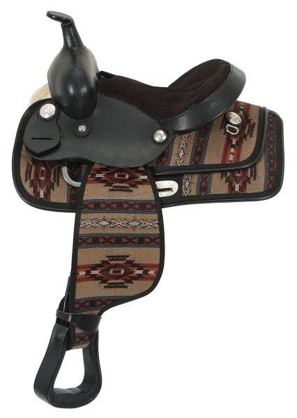 King Series Navajo Print Youth Saddle Package