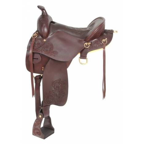 King Series Tooled Enduro Rider Saddle Package with Horn