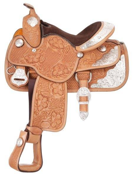 Silver Royal Challenger Youth Silver Show Saddle - Silver Star Trim