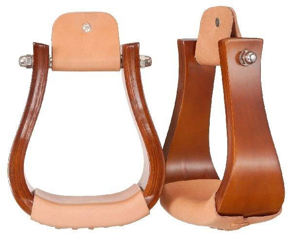 Tough-1 Hardwood Bell Stirrups with Southwest Design