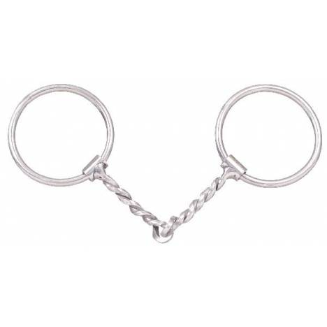 Kelly Silver Star 3/8 Twisted Wire Snaffle Bit