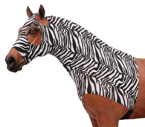 Tough-1 100% Spandex Mane Stay Hood - Zebra Prints