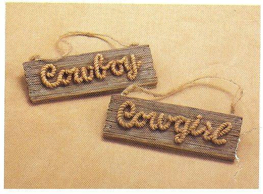 Gift Corral Cowboy Sign Ornament