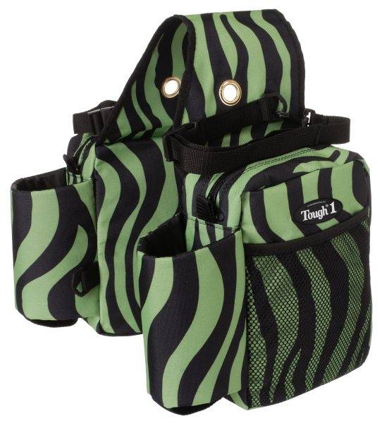 Tough-1 Saddle Bag/Water Bottle/Gear Carrier - Zebra Prints
