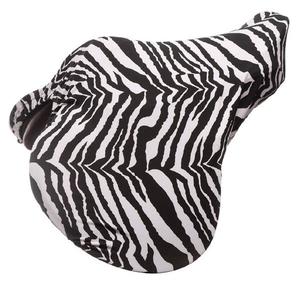 Tough-1 Lycra English Saddle Cover - Zebra Prints