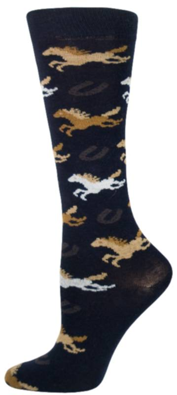 Gatsby Girl Novelty Wild Horse Socks