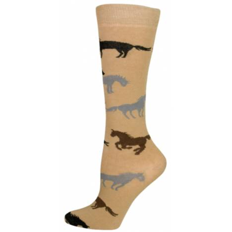 Gatsby Girl Novelty Horse Socks