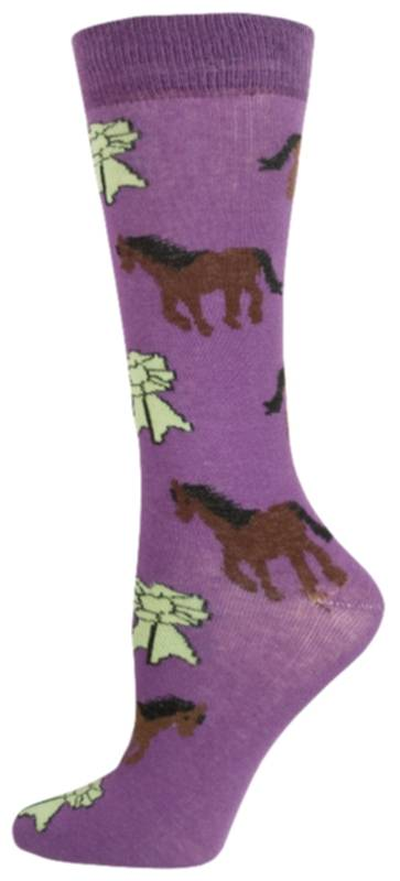Gatsby Girl Novelty Pony & Ribbon Socks