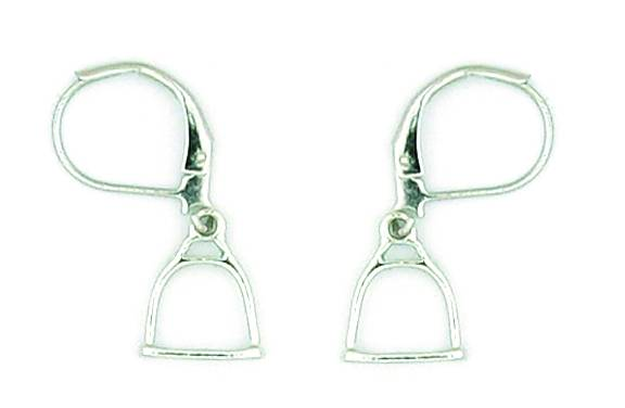 Finishing Touch Rearing Stirrup Earrings - Euro Wire