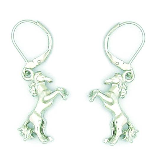 Finishing Touch Rearing Horse Earrings - Euro Wire