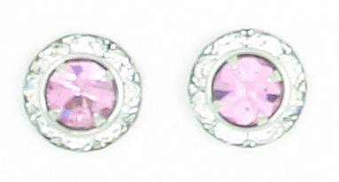 Finishing Touch Crystal Rondelle Earrings - Light Rose