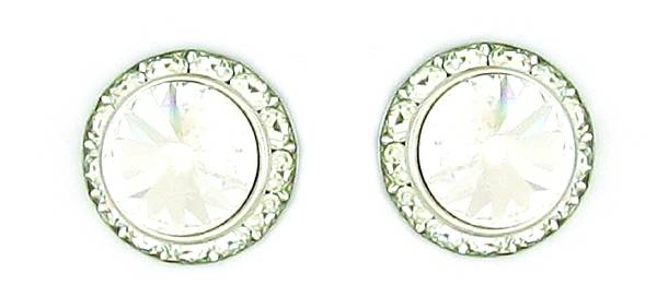 Finishing Touch Crystal Rivoli Stone Pierced Earrings