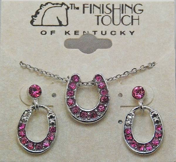 Finishing Touch Horseshoe with Stone Gift Set - Pink