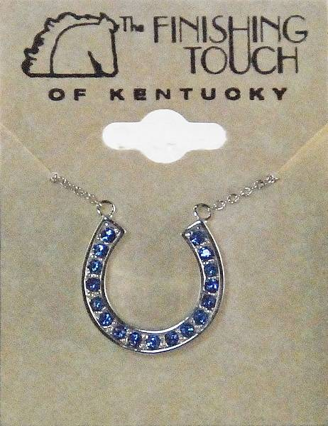 Finishing Touch Horseshoe with Light Sapphire Stone Necklace