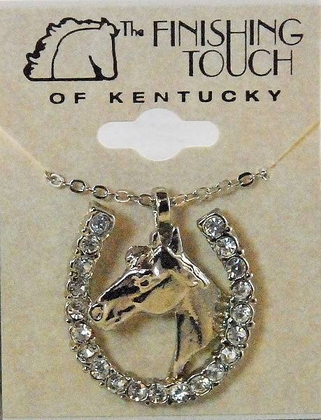 Finishing Touch Horse Head In Horseshoe with Stones