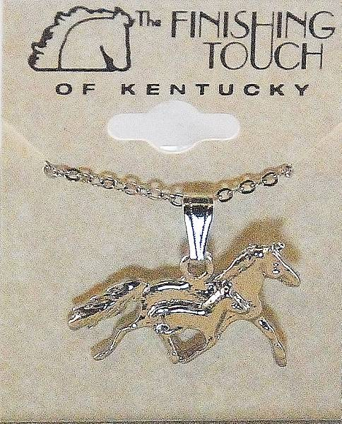 Finishing Touch Trotting Mare And Foal Necklace