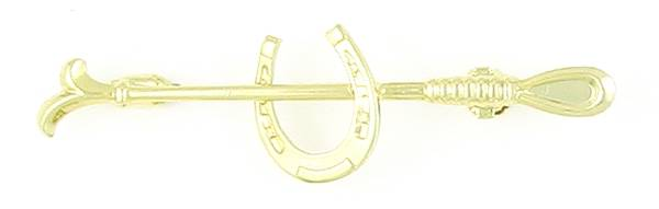Finishing Touch Horseshoe & Crop Stock Pin