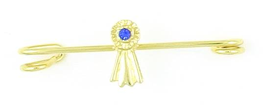 Finishing Touch Blue Ribbon Stock Pin