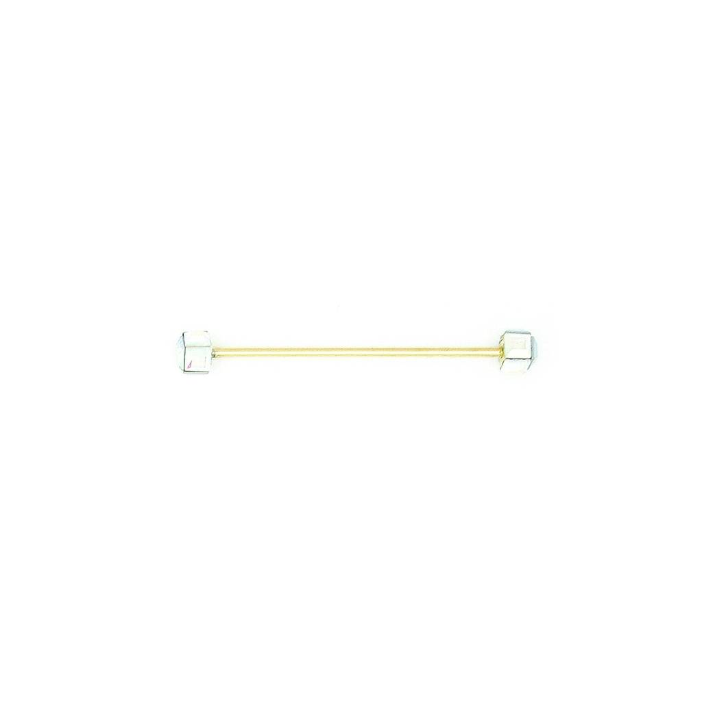 Finishing Touch Square Crystal Ab Collar Bar Gold