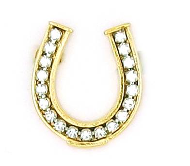 Finishing Touch Horseshoe Pin with Rhinestones