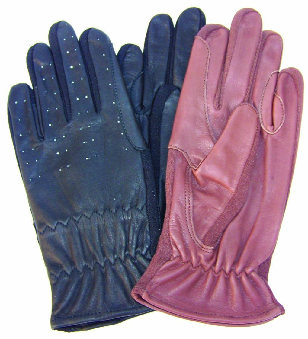 Mens Leather Show Gloves