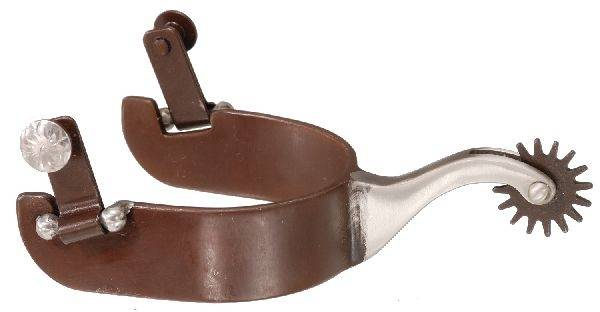 Tough-1 Antique Brown & Stainless Steel Spur